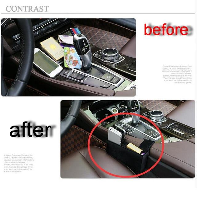 1 UNIDS Car Styling DIY NUEVA ABS Coche De Almacenamiento Caja De Almacenamiento Móvil Caso de la cubierta de Pegatinas Para Bmw 5 Series 520li GT 535 gt Accesorios