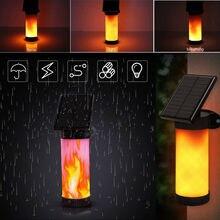 102 светодиодный солнечный светильник водонепроницаемый мерцающий открытый сад настенный светильник с низким напряжением для уличного фон...