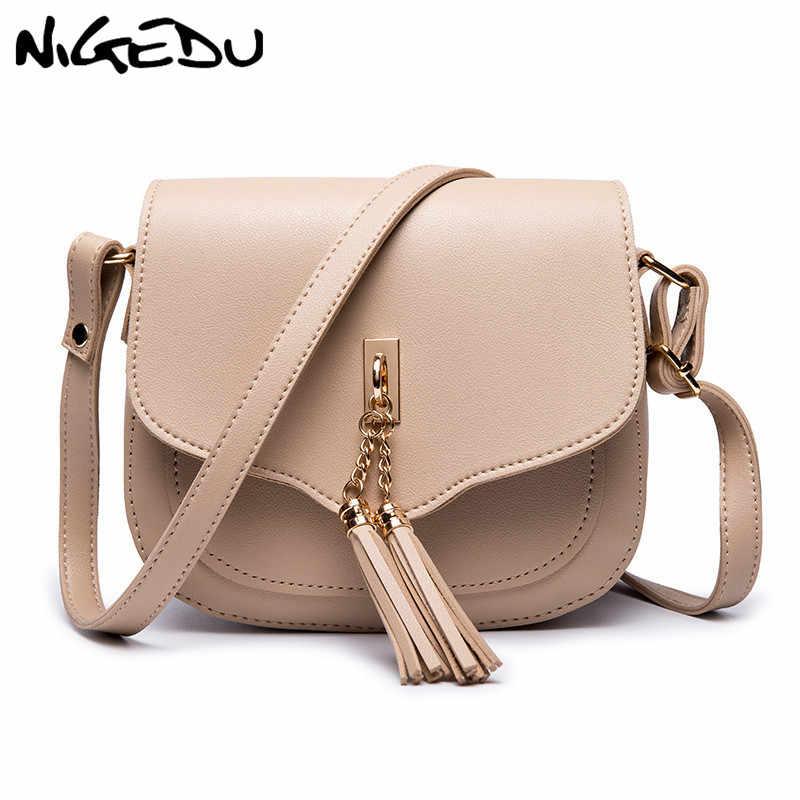 8e949165b27d Fashion tassel women Messenger Bags Small PU Leather Crossbody Bag for Female  Shoulder bag Ladies Handbags