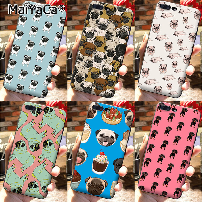 MaiYaCa On Sale Luxury Cool Phone Accessories Case For iPhone 7 plus Case Cute lovely pug dogs animals