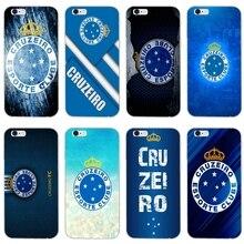 5a437ebdc43 Cruzeiro futebol logotipo fino caso de telefone de silicone Macio Para o  iphone X XR XS