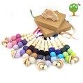 6 colors Grey pink coffee green lilac 20mm crochet beads Organic Teething necklace, Breastfeeding Nursing mom necklace EN25
