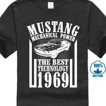 Mustang The Best Technology Personalized Print Car T Shirt Men Great Quality Brand T Shirt Boy Quality Hot T Shirt