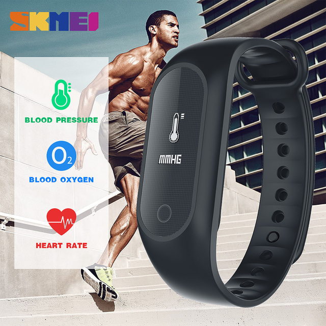 Skmei новый Приборы для измерения артериального давления крови кислородом Smart heartrate браслет шагомер часы Будильник Bluetooth Android IOS Smart Браслет xfcs