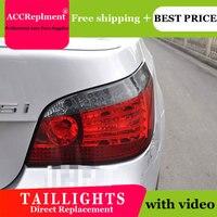 4 шт. автомобильный Стайлинг для BMW E60 задних сигнальных огней, 2004 2010 для E60 светодиодный задний фонарь + указатель поворота + тормоза + обратны