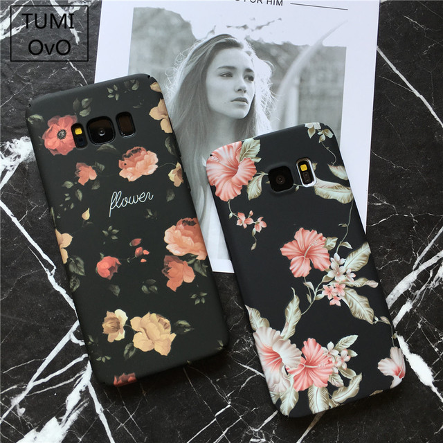 Starry Retro Flower Mountain Landscape Phone Cases For Samsung Galaxy S7 S8...