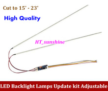 1PCS Universal Highlight Dimable LED Backlight Lamps Update kit Adjustable LED Light For LCD Monitor 2 LED Strips(China (Mainland))