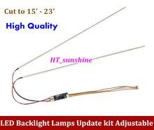 1PCS Universal Highlight Dimable LED Backlight Lamps Update kit Adjustable LED Light For LCD Monitor 2 LED Strips