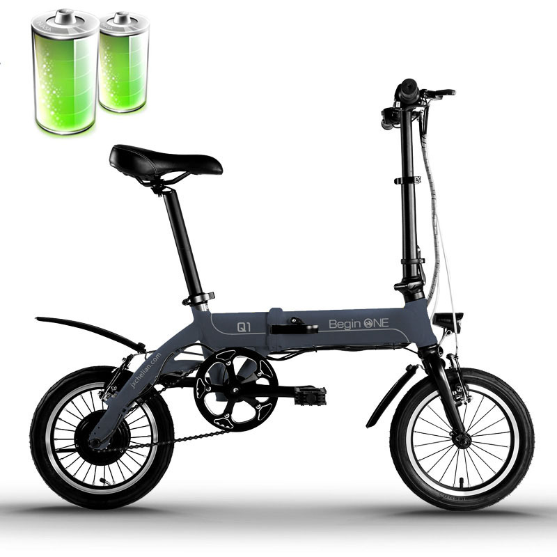 14 inch font b folding b font electric font b bicycle b font mini aluminum alloy