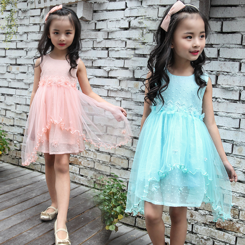 Подробнее о 2017 Summer Style Girls Kids Fashion Sleeveless Dress Baby Children Clothing Kids Clothes Infant Party Dresses Robe Fille Enfant baby girl dress 2016 brand girls summer dress children clothing lemon print kids dresses for girls clothes robe princesse fille