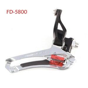 Image 2 - Shimano 105 FD R7000 5800 5801 ön vites 2x11 hız bisiklet ön vites 5800 R7000 lehim 31.8MM 34.9MM kelepçe bant