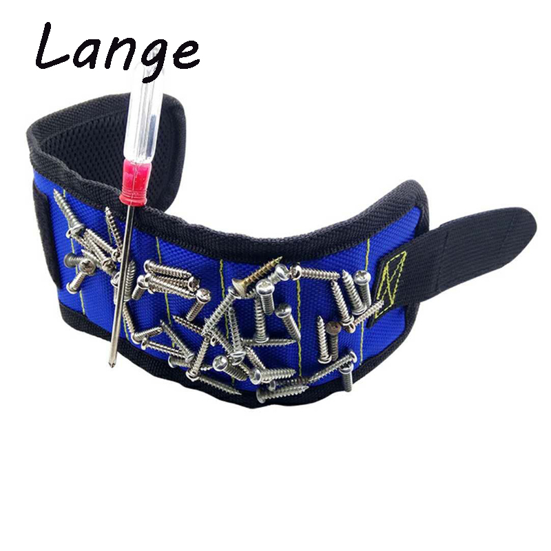 Lange Wrist Support Strong Magnetic For Screw Nail Holder Wristband Band Tool Bracelet Pouch Bag Screws Drill Holder Holding A28 kong x lange alu screw sleewe