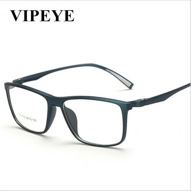 New Trend Square Frame Plastic Eyewear Flat Lens TR90 Frame Mens ...