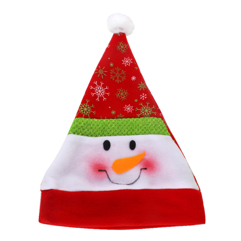 Cute Santa Claus Christmas Hat Beanies For Adult Women Unisex Print Snowflake Festival Winter Warm Velvet Caps Skullies inflatable cartoon customized advertising giant christmas inflatable santa claus for christmas outdoor decoration