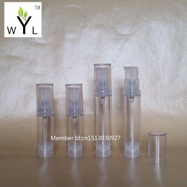 5 мл 10 мл пустой косметический безвоздушный насос бутылка для лосьона миниатюрный многоразовый косметический контейнер с прозрачной крышкой