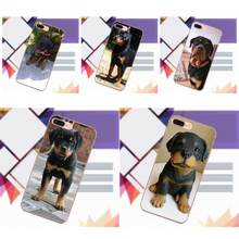 Vvcqod For LG G2 G3 mini spirit G4 G5 G6 K4 K7 K8 K10 2017 V10 V20 V30 Soft TPU Art Online Cover Case Rottweiler Dog Puppy(China)