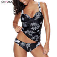JOYMODEเซ็กซี่บิกินี่ชุดผู้หญิงPush Upชุดว่ายน้ำพิมพ์ชุดชั้นในเบาะt rajes Deมูรัตผู้หญิงปกเอวต่ำBiquinis 2ชิ้นขนาดบวก5XL