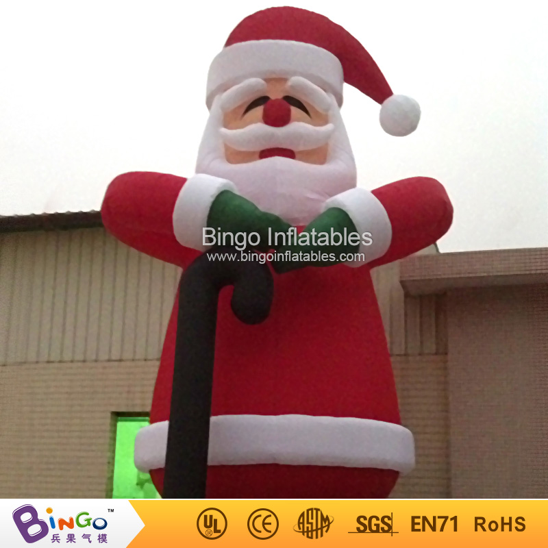 outdoor christmas inflatable santa claus with crutch 8m high factory direct sale bg a0376 toy in inflatable bouncers from toys hobbies on aliexpresscom - Outdoor Christmas Inflatables