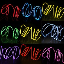 EL Wire Flash Rope Tube Cable LED Strip Flexible Neon Lamp Glow String Light For Car Decoration +2.3mm Sewing Edge Car Styling цена