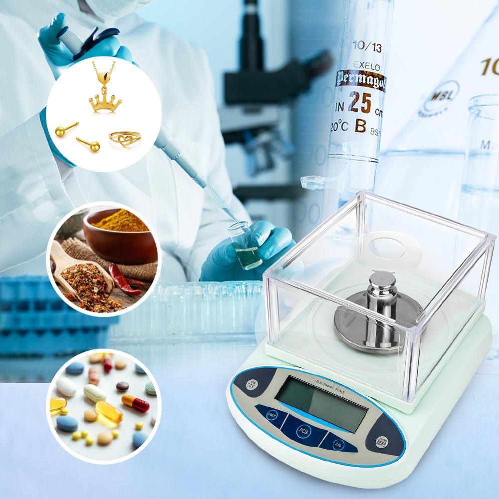 500g/0.001g Elettronico Digitale Bilancia s Precisione Analitica Bilancia del Peso di Equilibrio Scientifica Lab Precisione Da Cucina Gioielli Postale