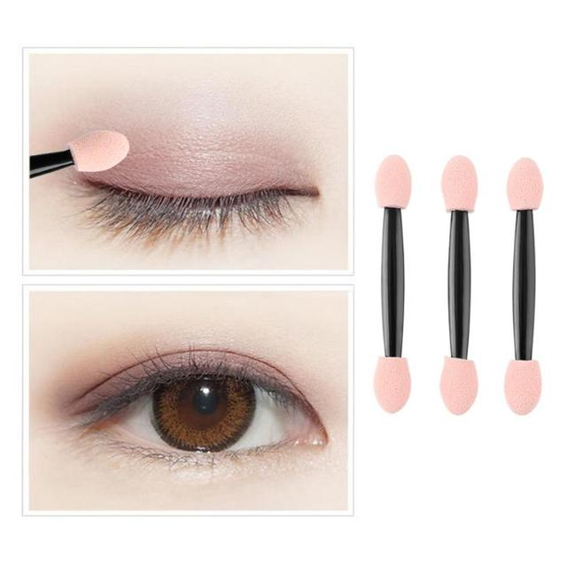 10/50/100pcs/set Soft Latex Sponge Eyeshadow Stick Double-side Disposable Eye Shadow Brushes Manicure Makeup Tools Nail Art Tool