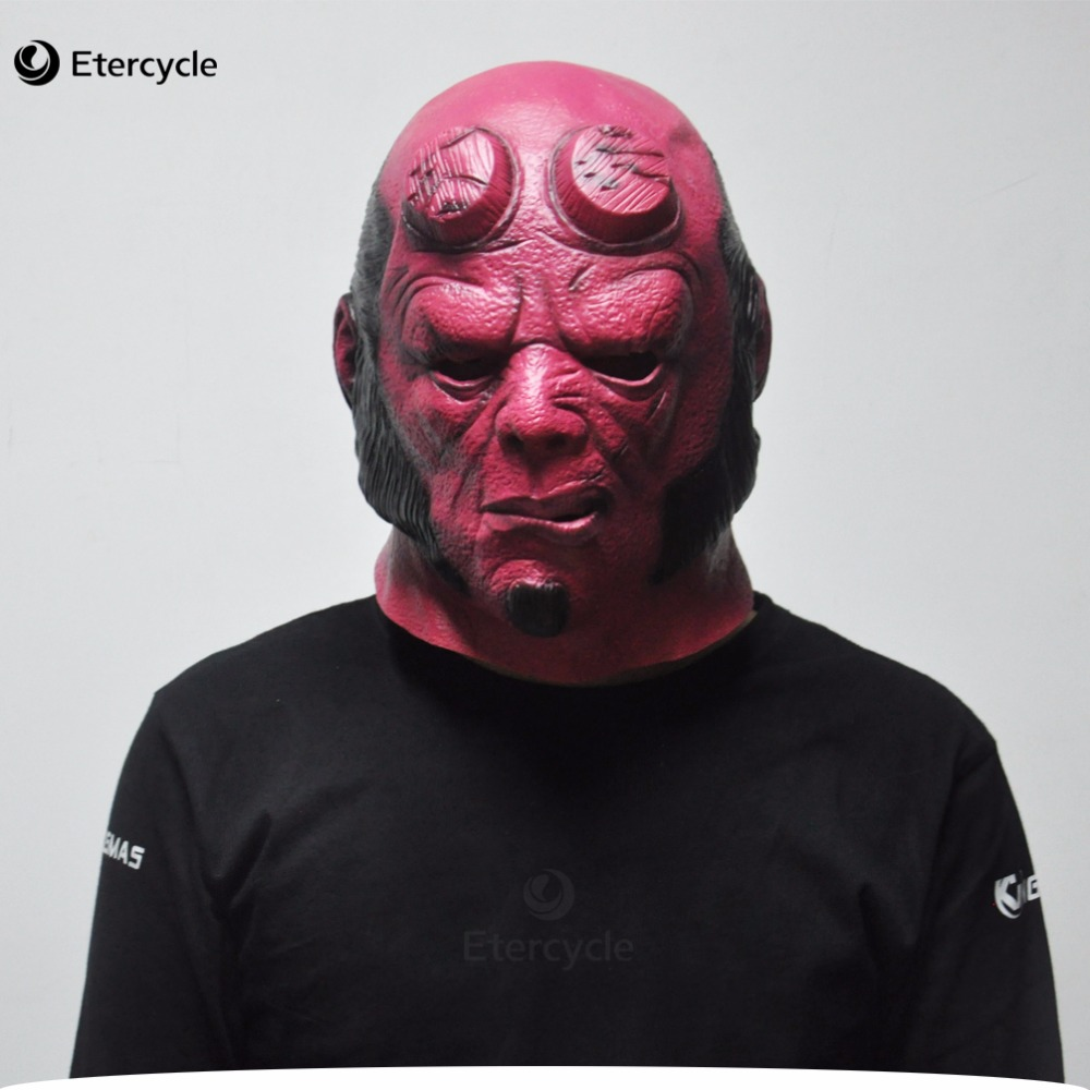 superhero hellboy masks horror movie cosplay adult latex mask for halloween in party masks from home garden on aliexpresscom alibaba group