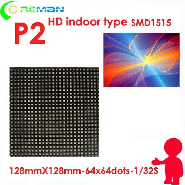 Imágenes xxx interior led modulo de pantalla de video controlador de fuente de alimentación, led rgb matrix p2 128mm x 128mm , hd p2 módulo led 64x64