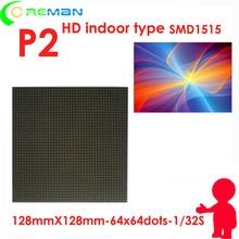 Indoor levou tela de vídeo xxx fotos módulo controlador da fonte de alimentação, led rgb matriz p2 128mm x 128mm, hd p2 levou módulo 64x64