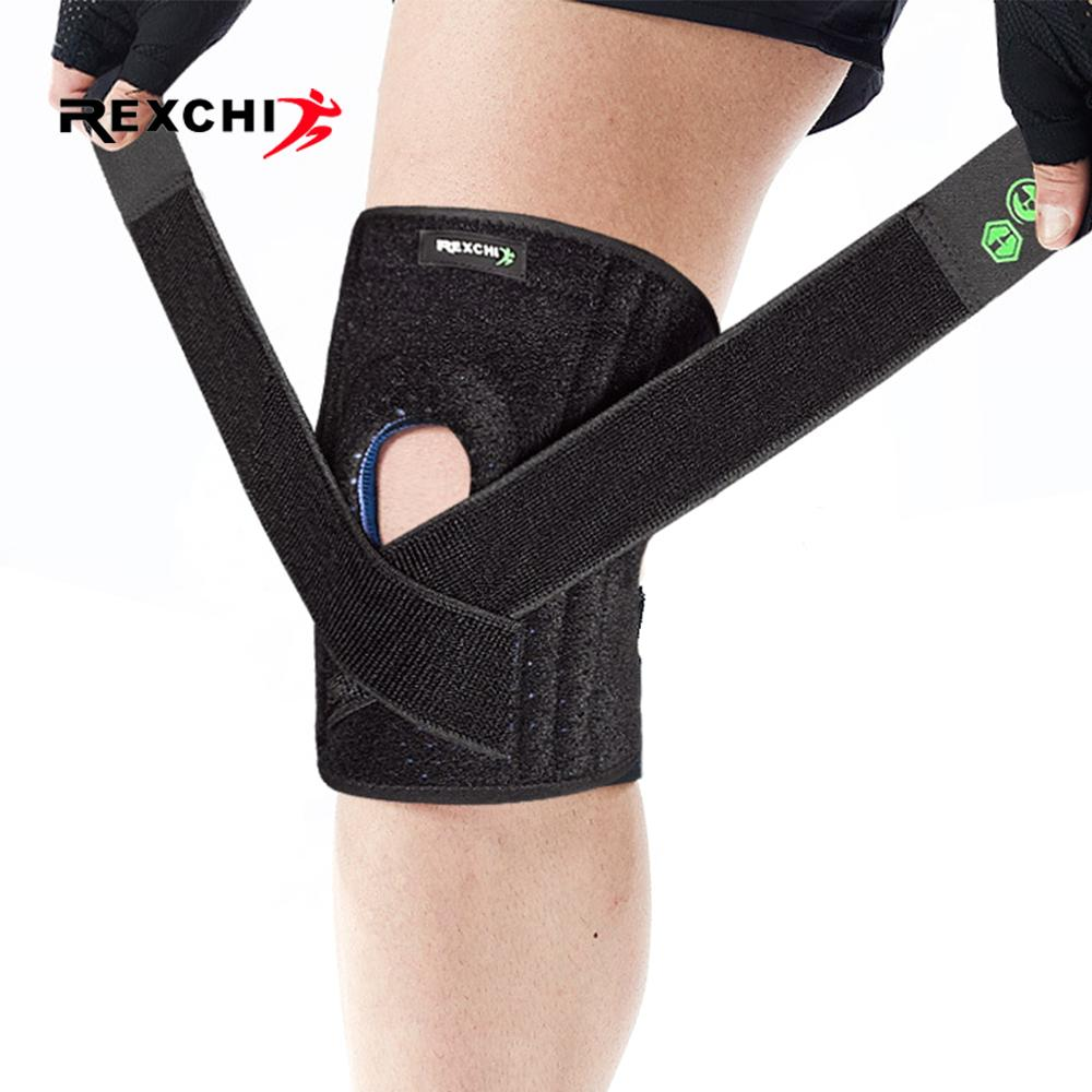 REXCHI 1PC Adjustable Kneepad Elastic Knee Patella Brace Pressurize Support Pad Protective Gear Sports Safety Basketball