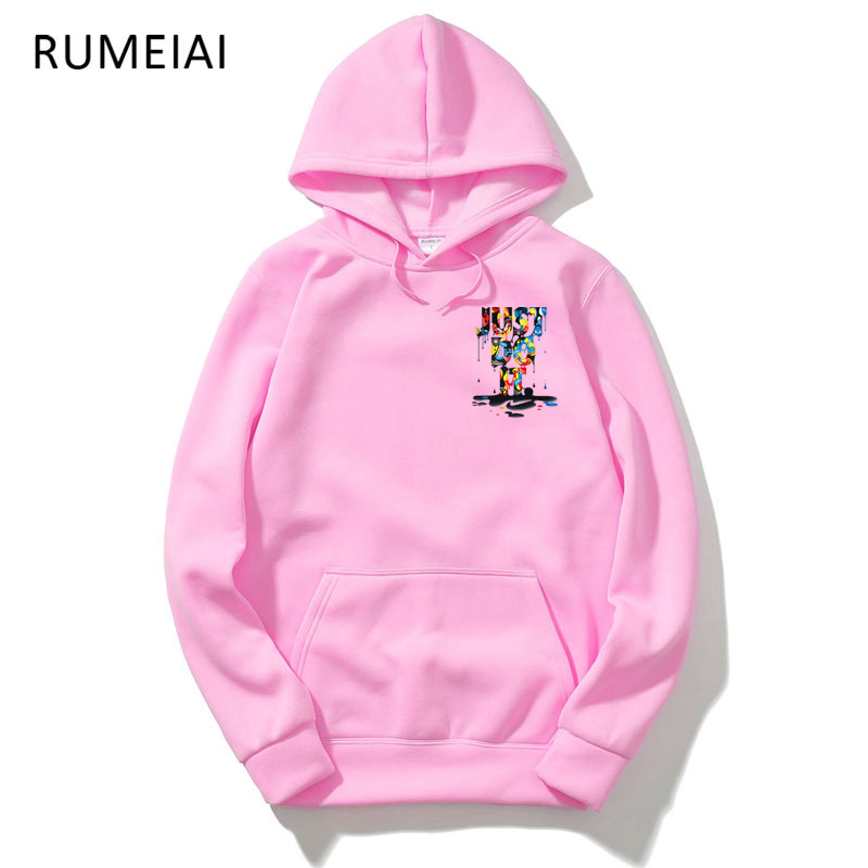 RUMEIAI New Just Do It Hoodies Fashion Streetwear Hoody Sweatshirt Sudadera Hombre Mens Women Hoodie Sweat Homme Sweatshirts Men