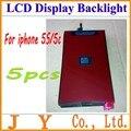 5 pcs de alta qualidade LCD de substituição Backlight para Iphone 5S 5c frete grátis