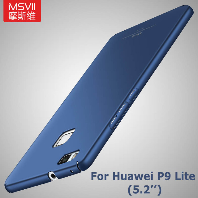 Huawei P9 Lite Trường Hợp nắp che MSVII thương hiệu p9 lite Siêu Mỏng Mượt Cứng nhựa Cover Quay Lại Đối Với Huawei p9 lite trường hợp G9 bìa