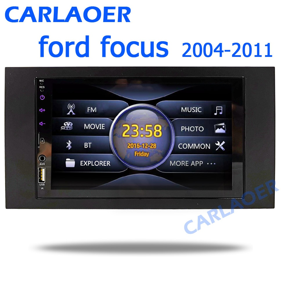 For Ford Focus 2 Din Car Radio for C Max S Max Fusion Transit Fiesta Mondeo