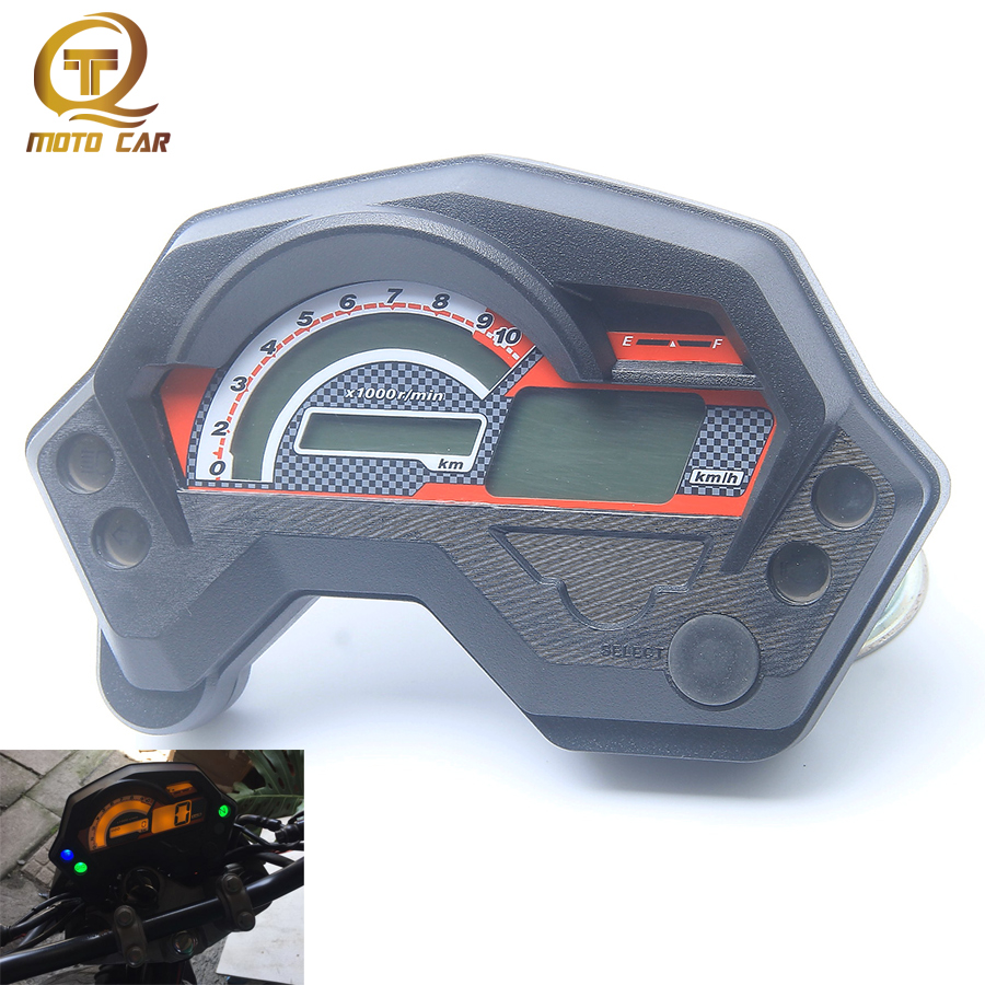 Motorcycle Tachometer Fz16 Speedometer New Abs Lcd Panel With Light Wiring Diagram Yamaha Digital Universal Electronics Indicator Display Accessories Parts For Cafe Racer Instrument