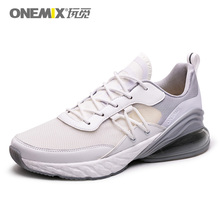 ONEMIX Fashion Men Casual Shoes White Breathable Textile Upper Summer Sneakers Lightweight Outdoor Sport Trainers