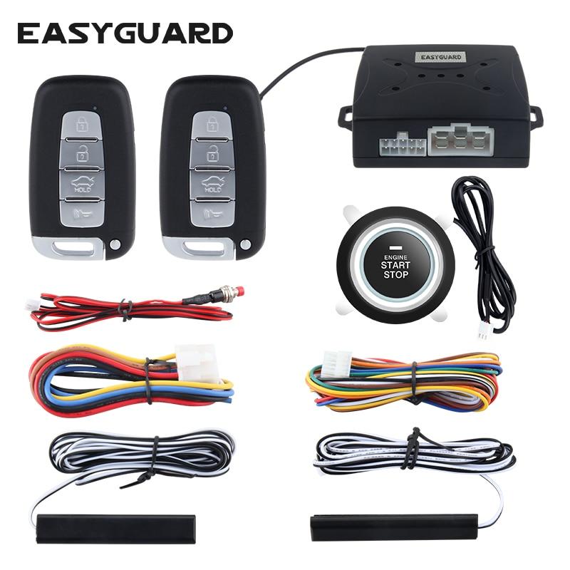 EASYGUARD компания универсальный качество автомобиля аварийной системы безопасности с PKE пассивный удаленного запуска двигателя остановка ...