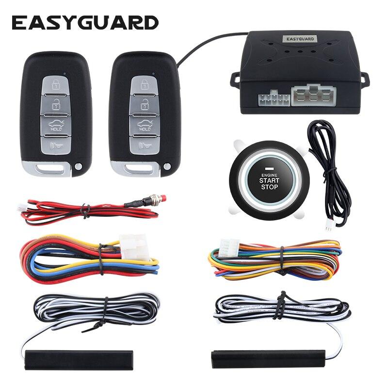 Easyguard компания универсальный качество автомобиля аварийной системы безопасности с PKE пассивный удаленный запуск двигателя keyless go DC12V