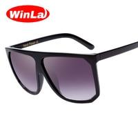 Winla New Women Sunglass Flat Top Oversize Square Shape Sunglasses Women Brand Designer Sun Glasses Oculos