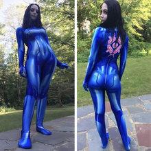Женский костюм на Хэллоуин samus aran metroid zero из спандекса