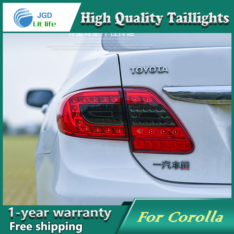 ФОТО Car Styling Tail Lamp for Toyota Corolla 2011-2013 Tail Lights LED Tail Light Rear Lamp LED DRL+Brake+Park+Signal Stop Lamp