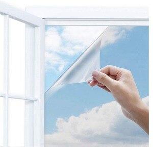 Image 2 - عرض 70 سنتيمتر الشمسية عاكس شباك الفيلم النهار الخصوصية اتجاه واحد مرآة الفضة الزجاج الحرارة التحكم ومكافحة الأشعة فوق البنفسجية للمنزل والمكتب