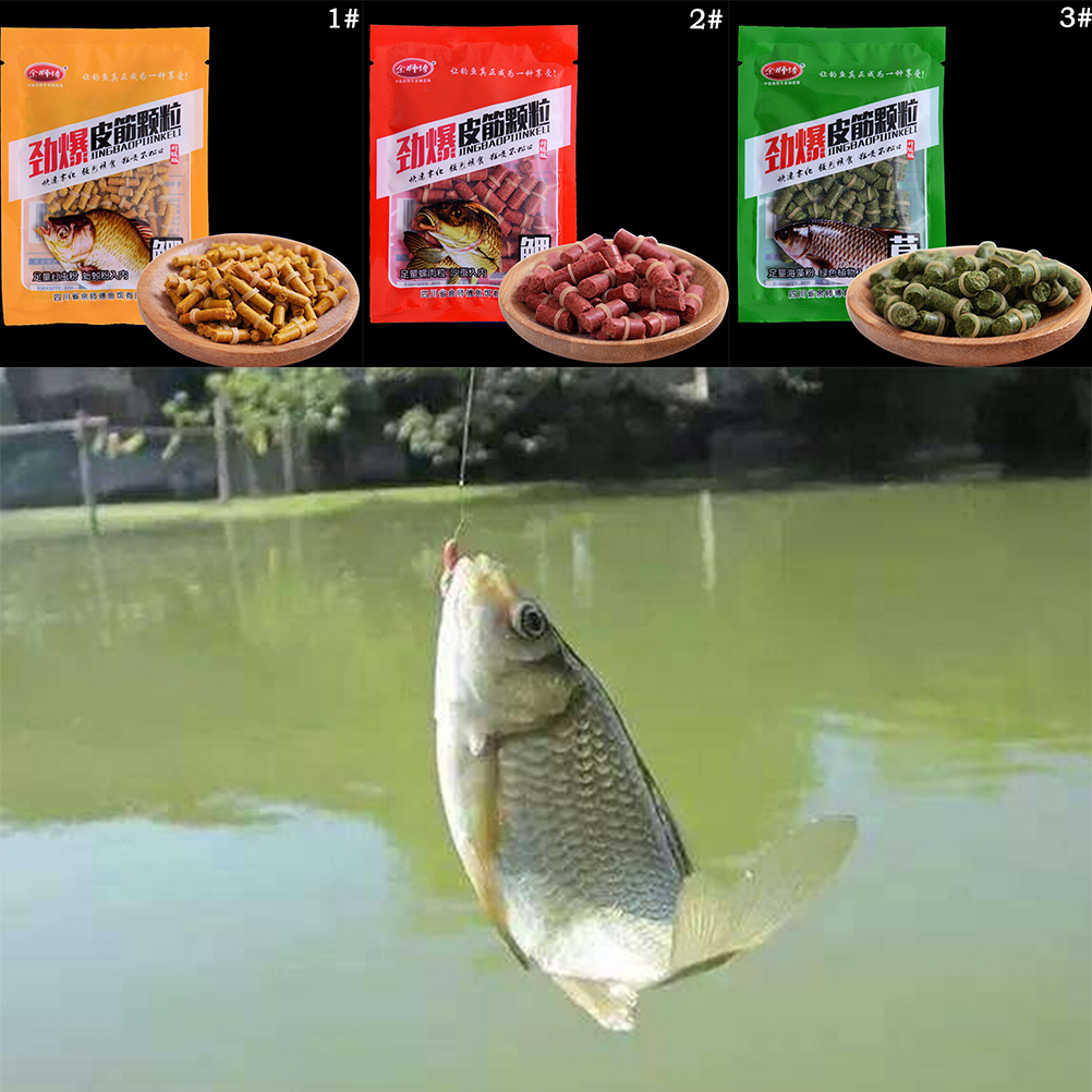 New Arrive Crucian Carp Catfish Feeder Bait 1Bag Artificial Bait Fishing Bait Additive Bloodworm Powder image