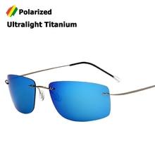 JackJad New Fashion Rimless Square Style Titanium POLARIZED Sunglasses