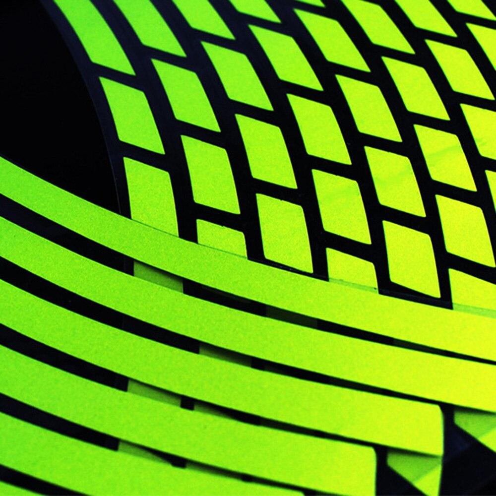 "Image 3 - 10"" 12"" 14"" 16"" 18"" Motorcycle Sticker Pegatinas Moto Strips Reflective Wheel Rim Adesivi Moto For Honda Yamaha Kawasaki Suzuki-in Decals & Stickers from Automobiles & Motorcycles"