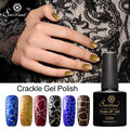 Saviland 1pcs Cracking UV Nail Gel Polish New Arrival Crackle Shatter Nails Lacquer Nail Art UV LED 12 Colorful Gel