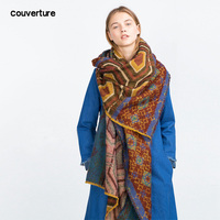 Couverture scarves women foulard luxury poncho scarves winter Warm blanket scarf Pashmina manteau femme hiver