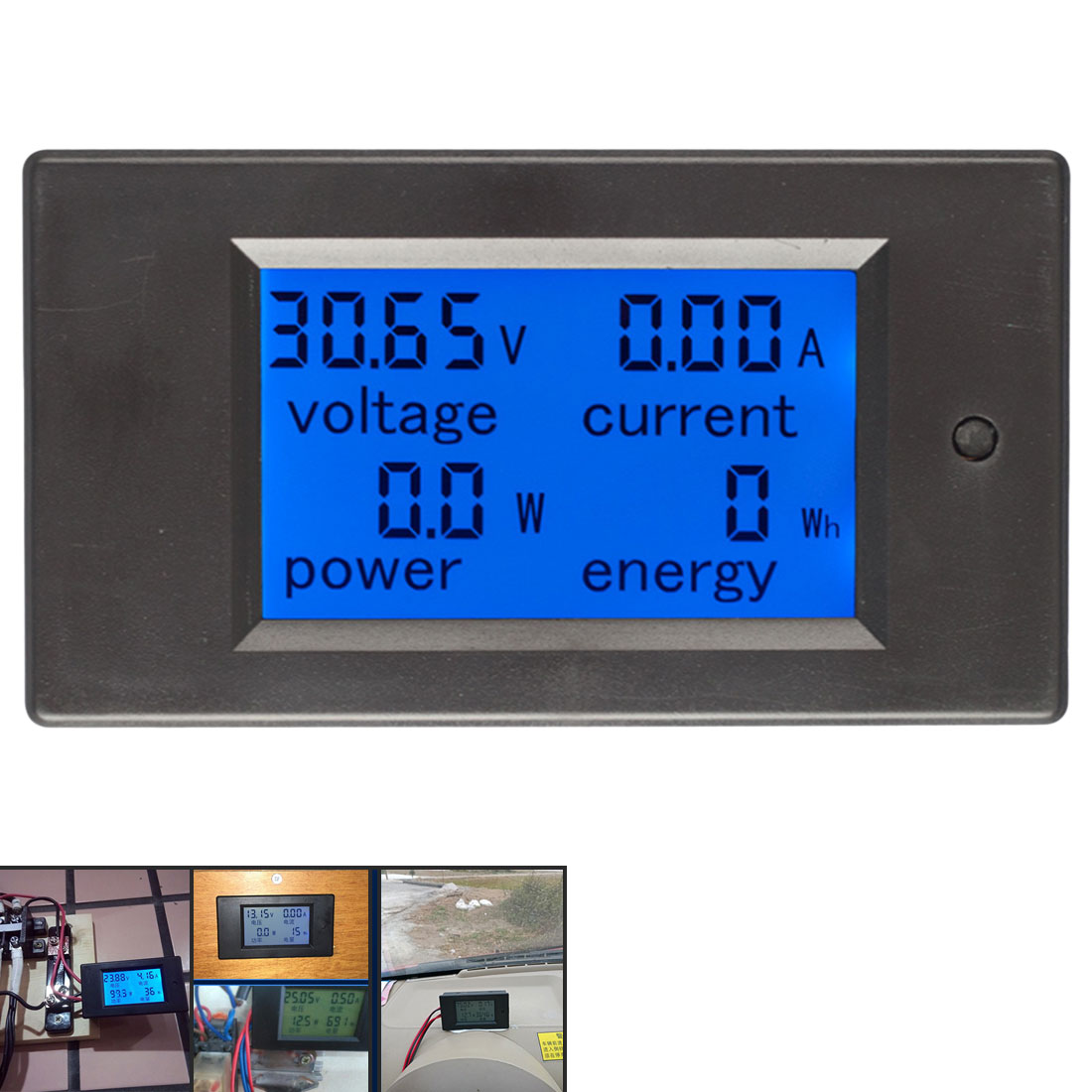 Digital Current Voltage Power Energy Meter DC 6.5-100V 0-100A LCD Display Multimeter Ammeter Voltmeter 100A Current Shunt dc 6 5 100v 0 100a lcd display digital current voltage power energy meter multimeter ammeter voltmeter w 100a current shunt
