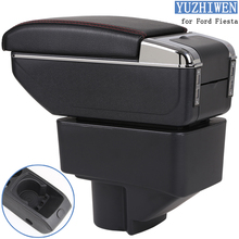 For Ford Fiesta Armrest Box Ford Fiesta Universal Car Central Armrest Storage Box cup holder ashtray modification accessories