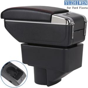 Image 1 - Подлокотник для Ford Fiesta, универсальный подлокотник для Ford Fiesta, подставка для чашки, пепельница, аксессуары для модификации