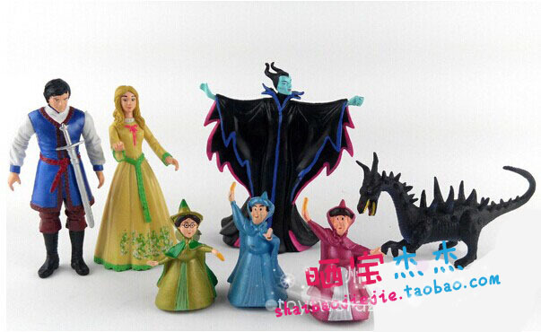 Free Shipping Princess Aurora Cartoon Witch Maleficent Maleficent Sleeping Spell Toys Figure